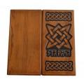Нарды из массива древесины с трехмерным славянским оберегом