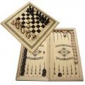 Нарды, шахматы и шашки в одном, среднего размера